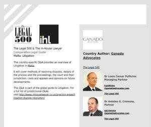 Legal500 Litigation cover
